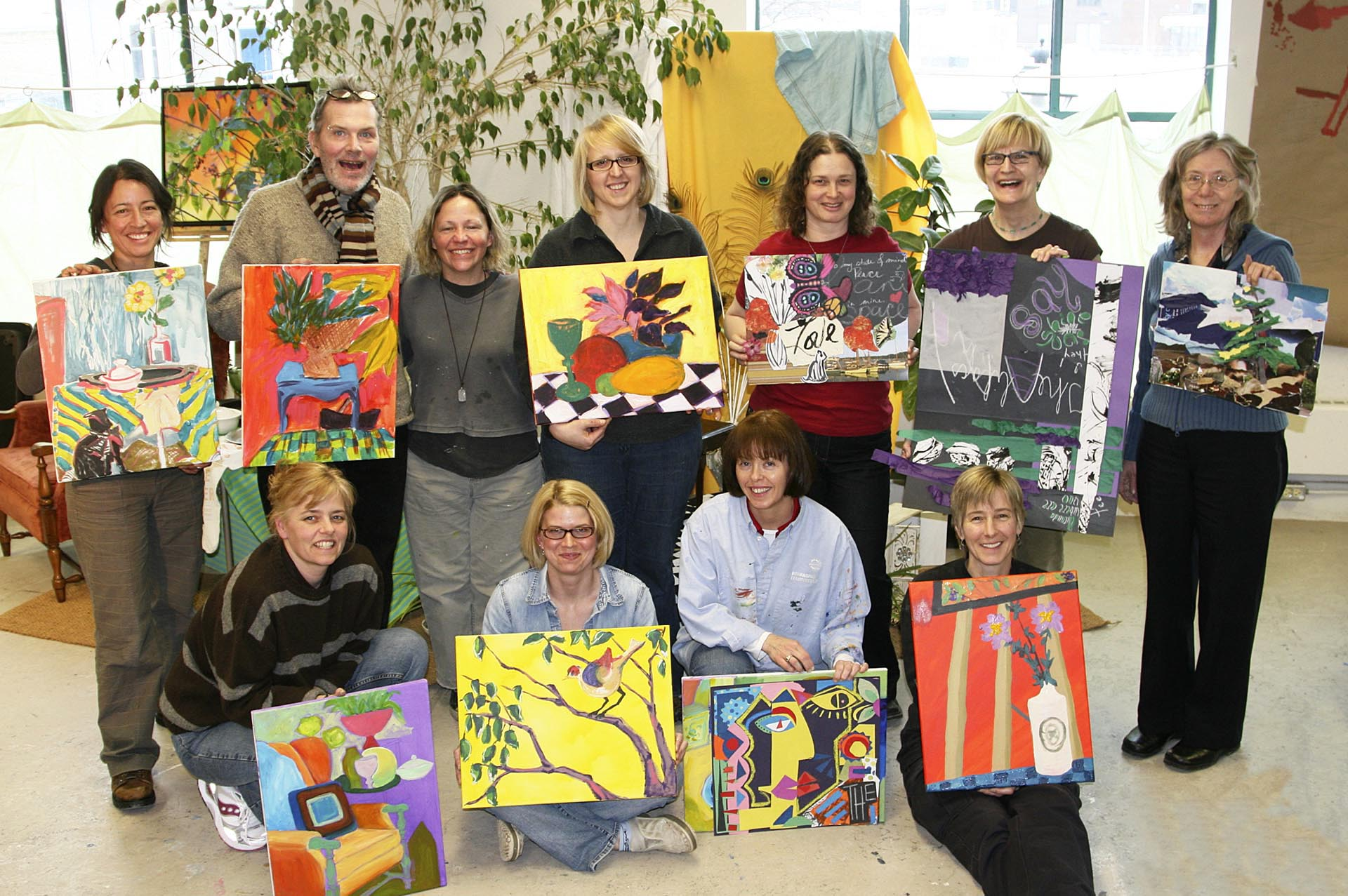 artists showing their painting