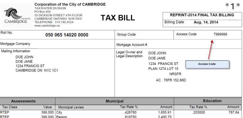 Cambridge City  Property Tax