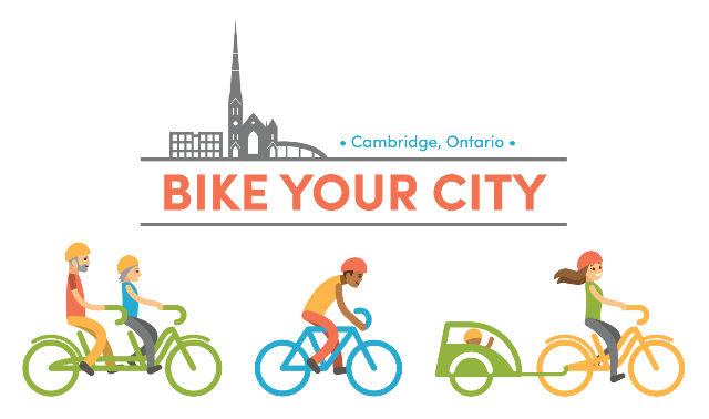 bike your city cambridge on, logo