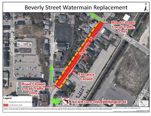 Beverly Street Watermain Replacement Map