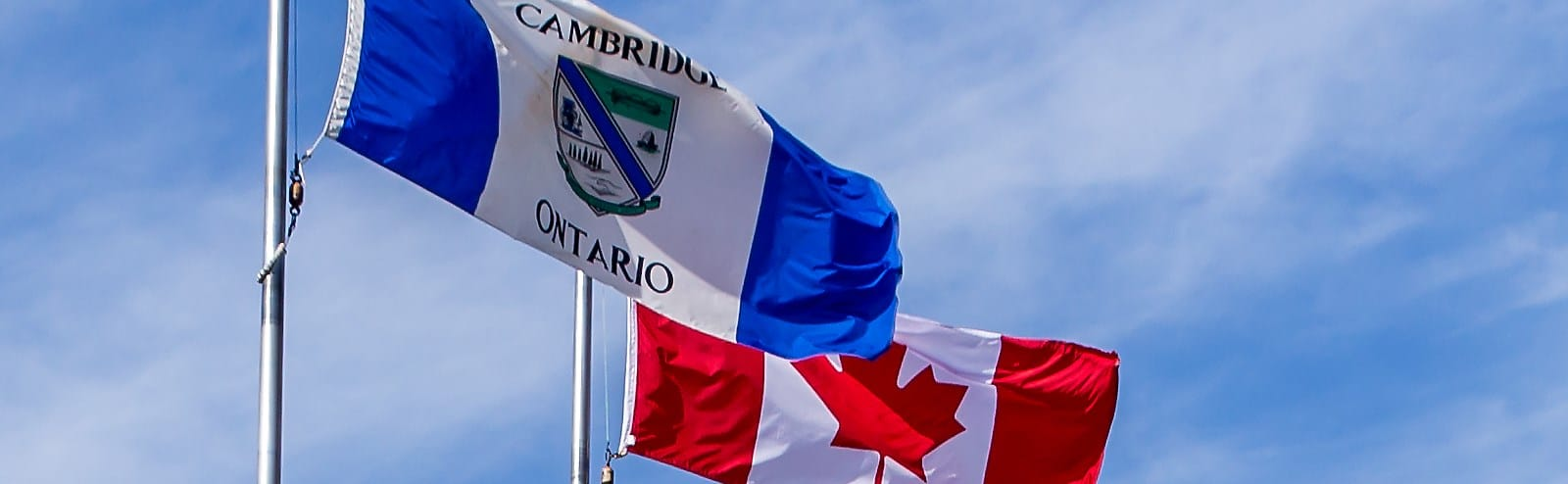 Flags of Canada and the City of Cambridge