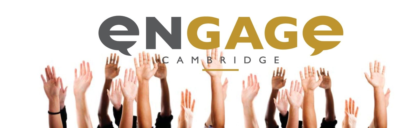 Engage Cambridge with hands in the air