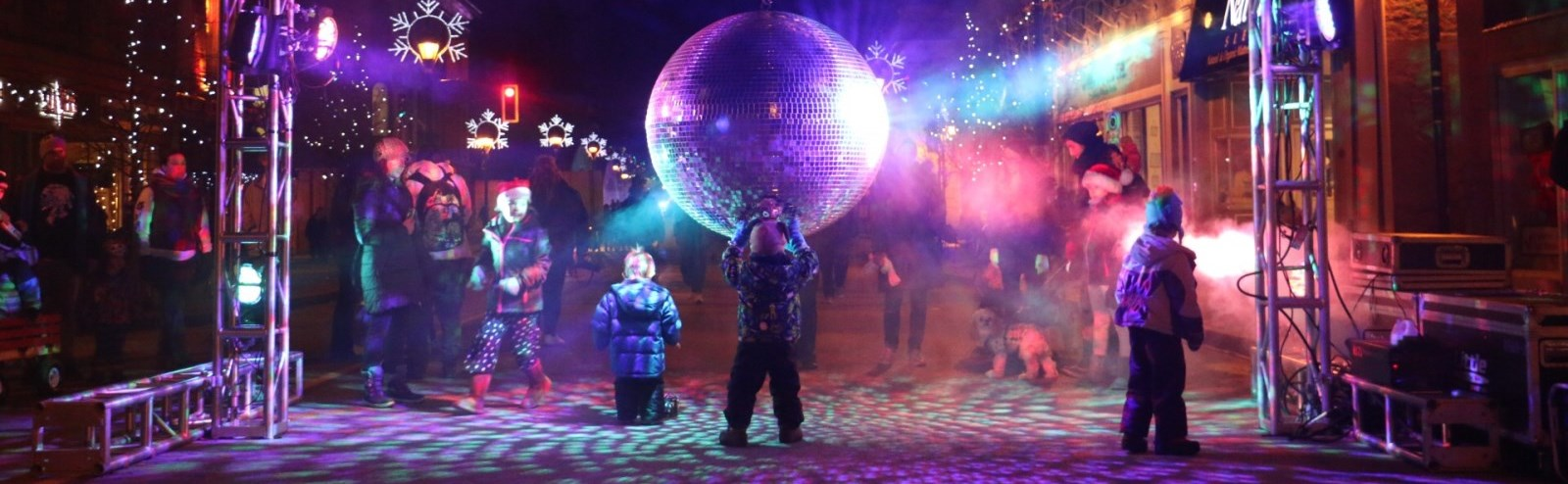 disco ball at unsilent night