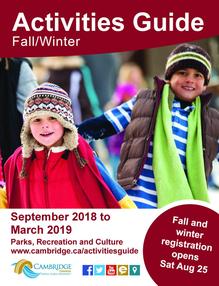 cover of Fall 2018 and Winter 2019 activities guide