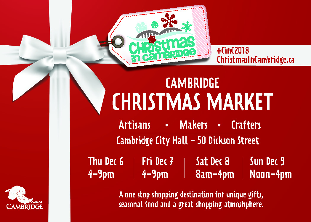 Cambridge Christmas Market Postcard