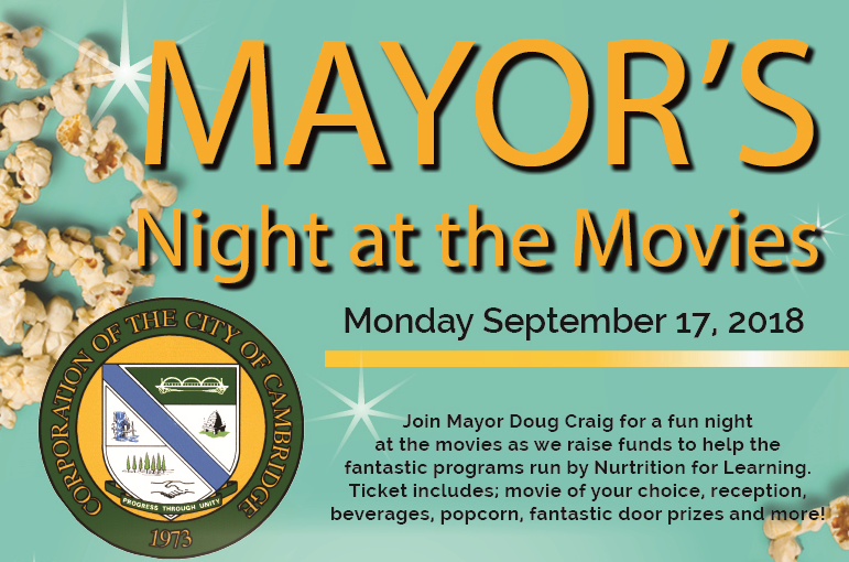 Mayor's movie night banner