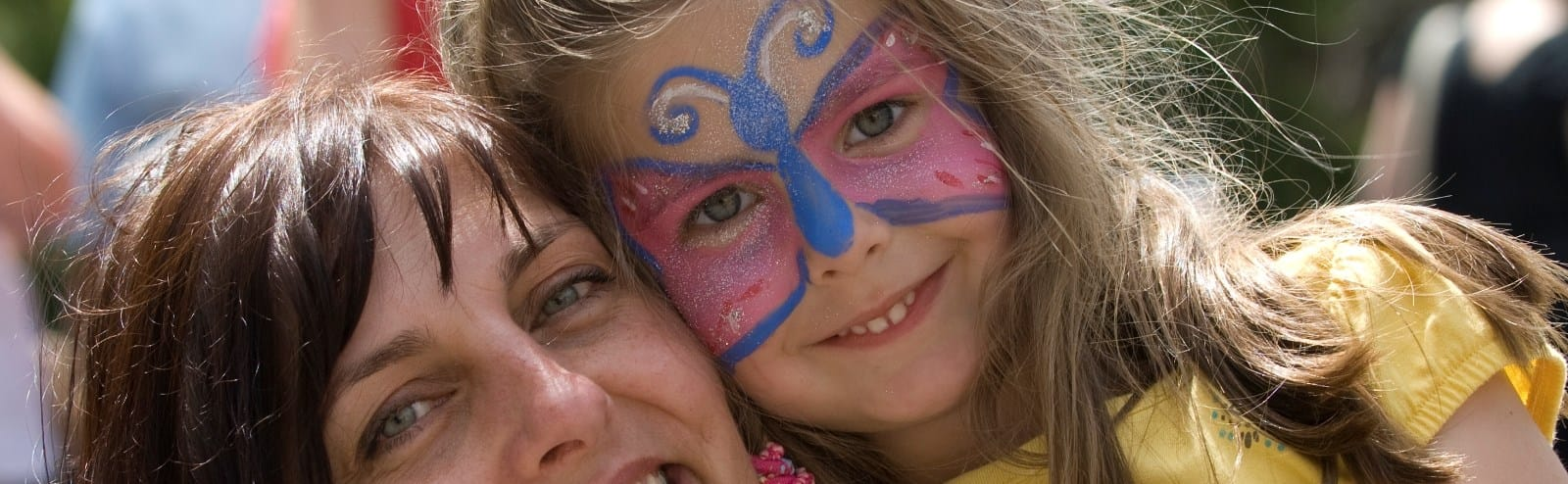 Young Lady With Face Painting