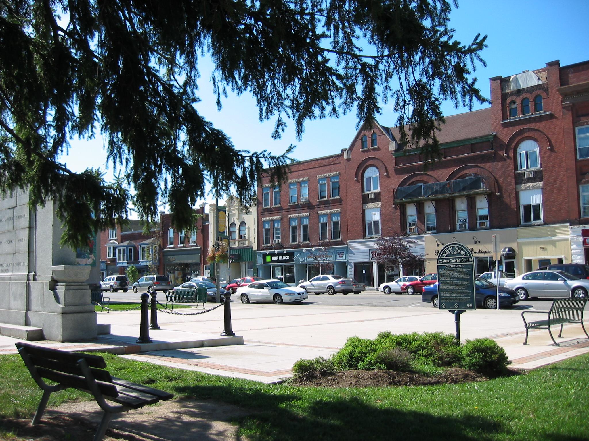 picture of core area streetscape